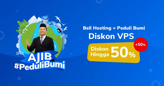 AJIB #PeduliBumi, Diskon VPS 50%+50%