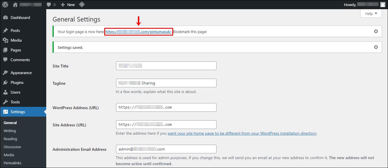 3 Berhasil ubah URL (Edit)
