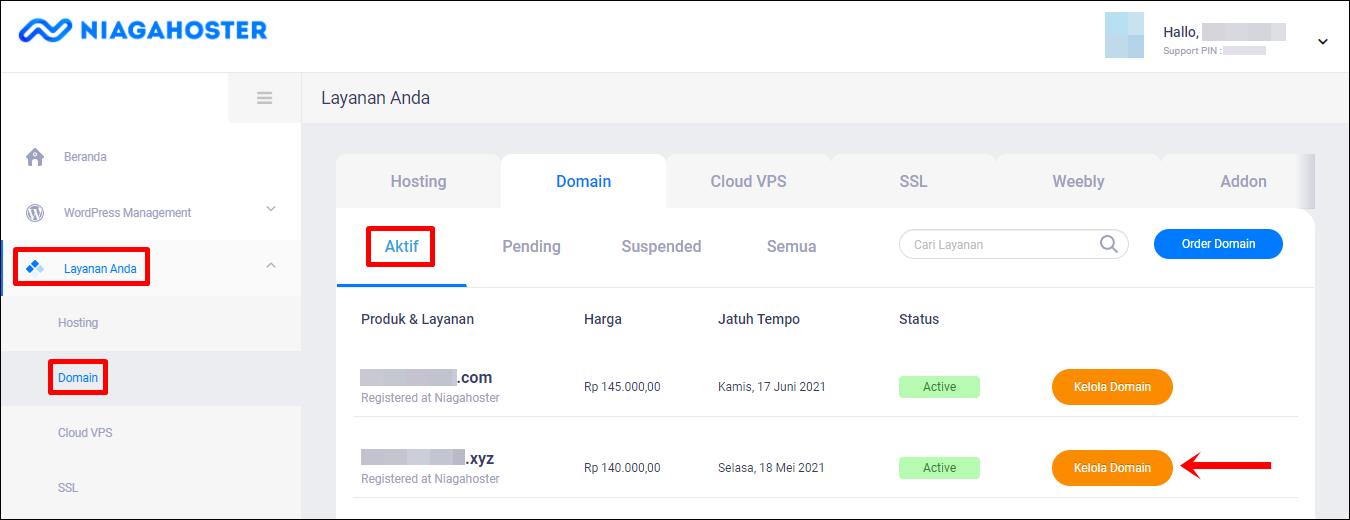 3 Layanan Anda   Domain (Edit)