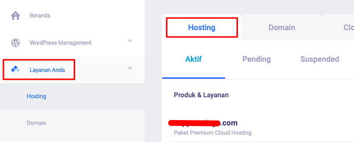 Client Area Niagahoster Hosting