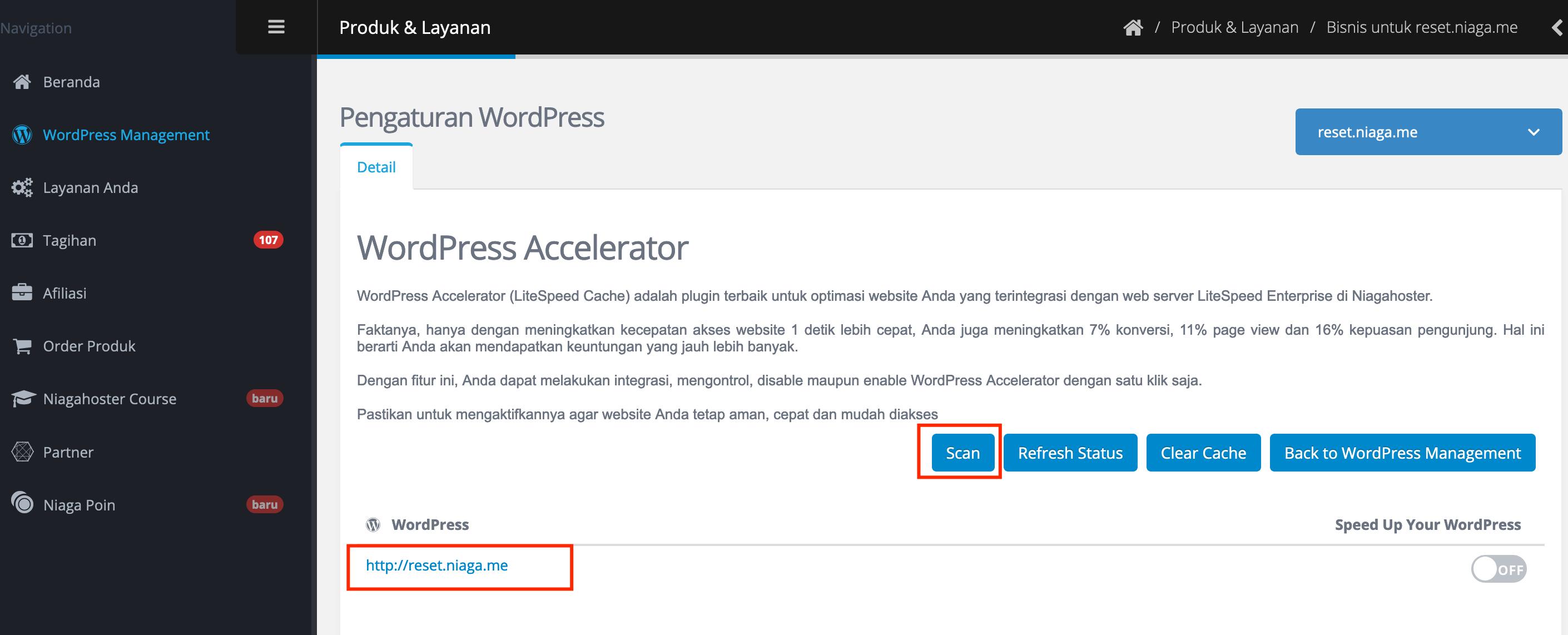enable wp accelerator