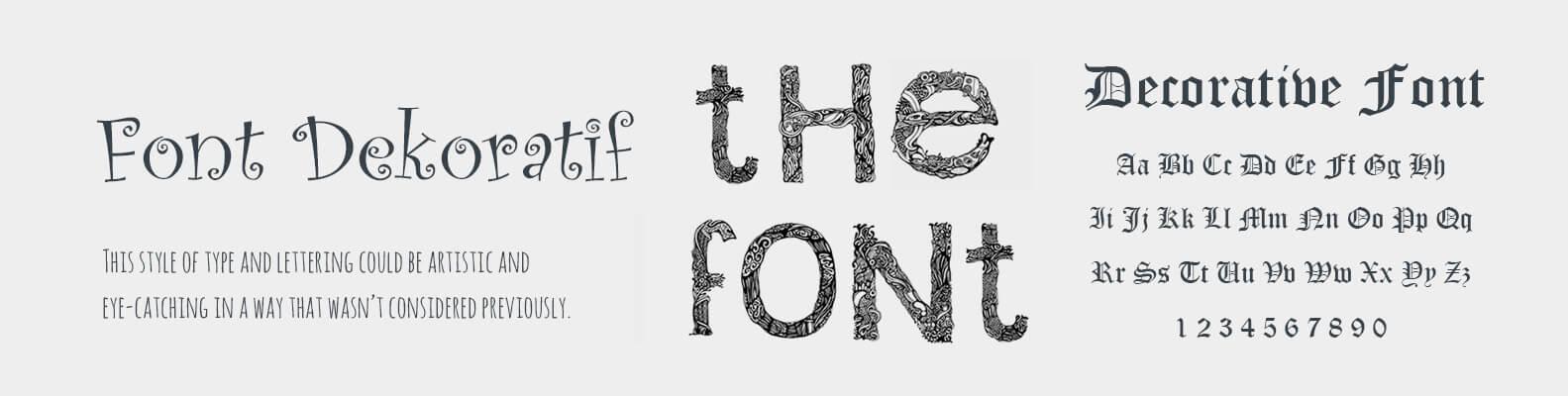 decorative-font