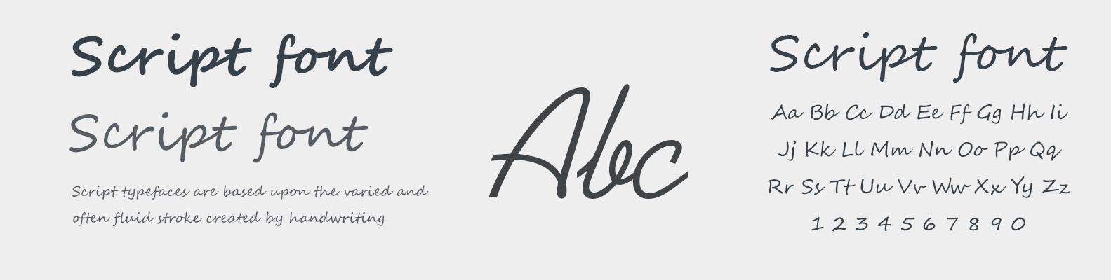 script-font
