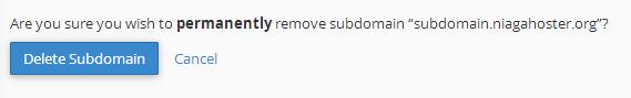 delete subdomain