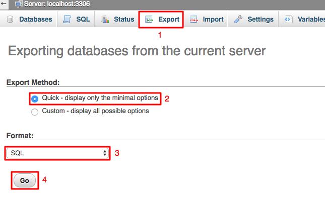 eksport database