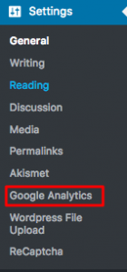 setting google analytics
