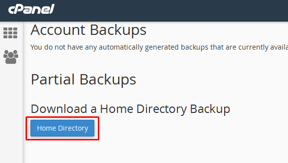 download backup website di cpanel