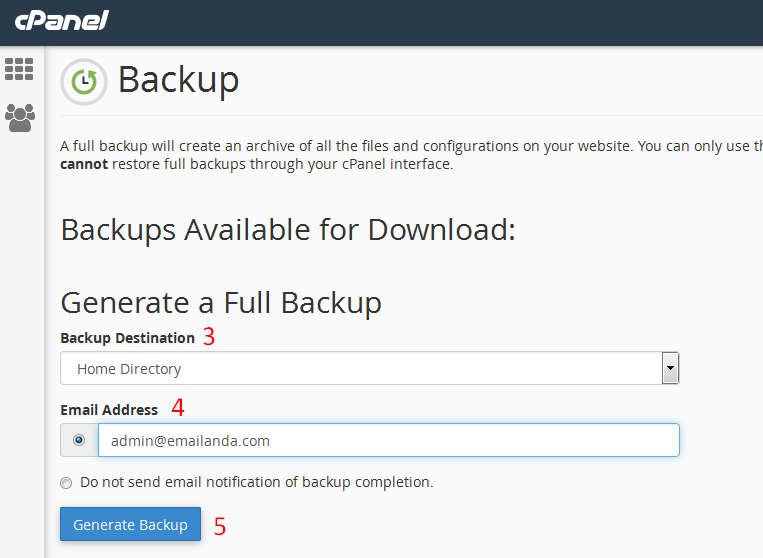 download file backup website