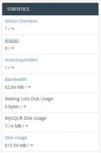 disk space wordpress