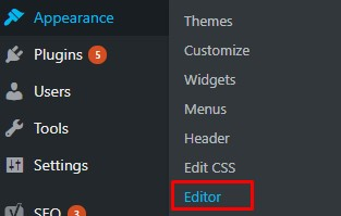 edit file wordpress