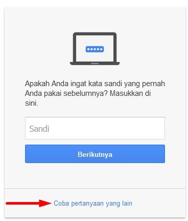 mengatasi lupa password gmail
