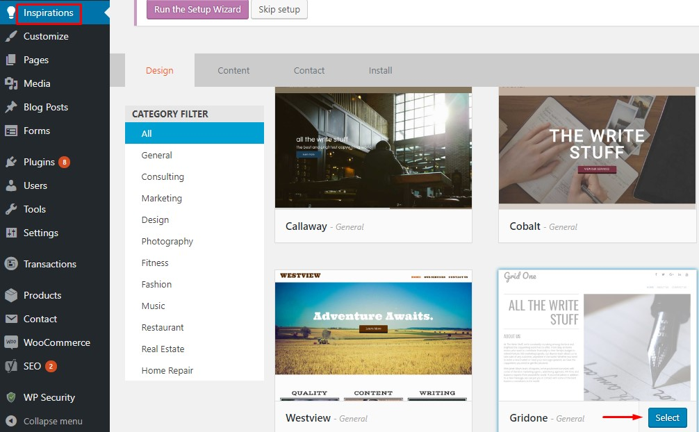ganti tema wordpress