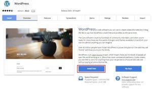 instal blog wordpress