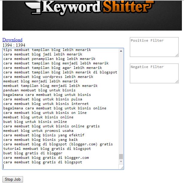 keyword shitter cara riset keyword