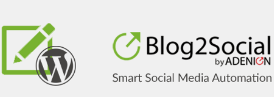 1. plugin social media wordpress terbaik blog2social