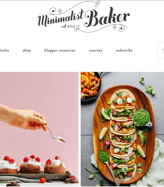 10. contoh blog pribadi minimalist baker