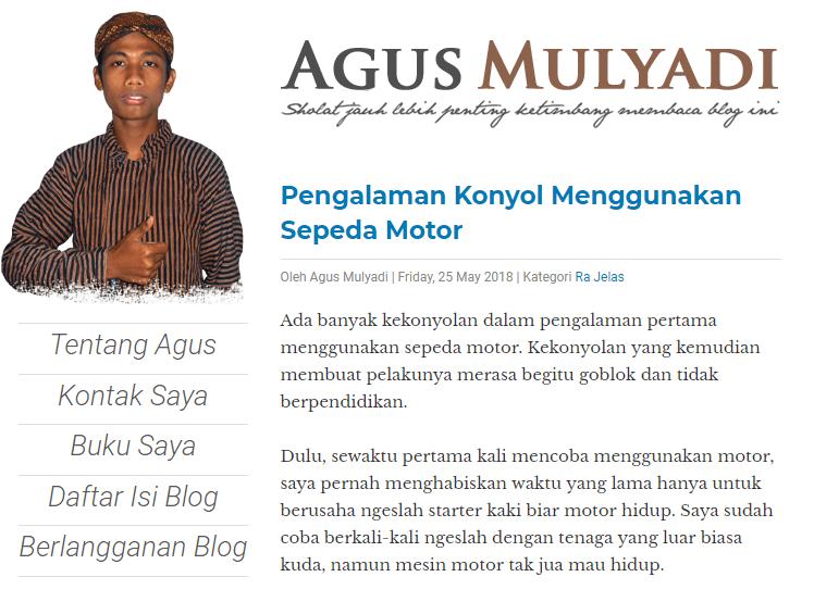 14. contoh blog agus mulyadi
