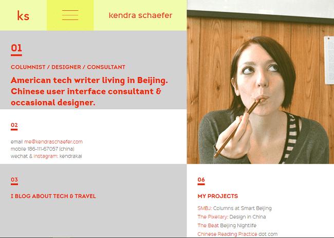 7. contoh blog website pribadi kendra