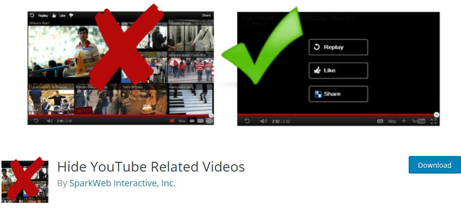 cara embed video youtube hide related video