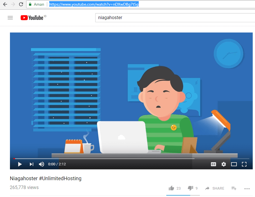 cara embed video youtube