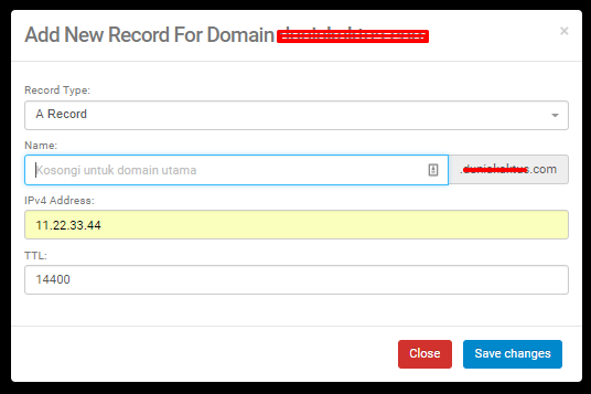 Cara Menghubungkan Domain ke VPS 7