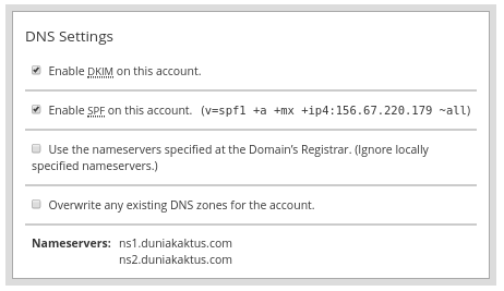 cara membuat cpanel - create a new account (8) dns setting