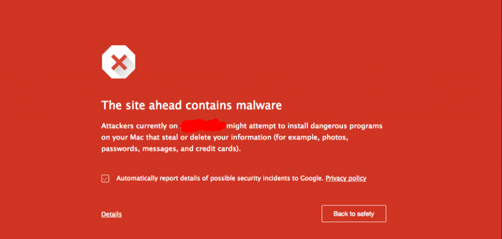 apa itu malware - site ahead contains malware