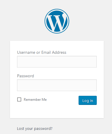 cara membuat wordpress login