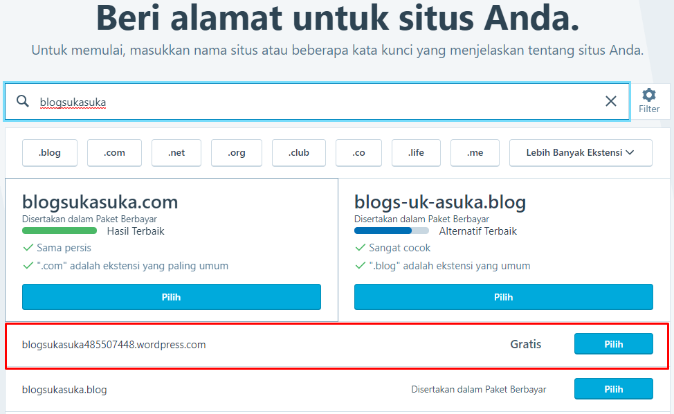 cara membuat blog wordpress.com domain