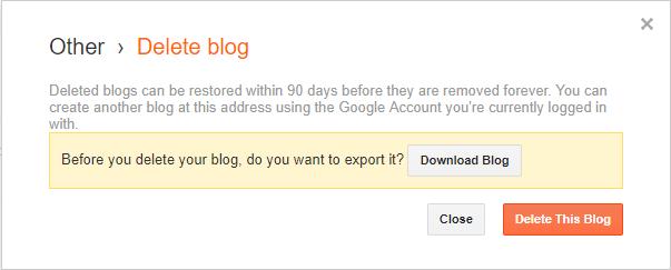 cara menghapus blog hapus