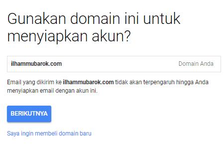 daftar email gratis g suite nama domain
