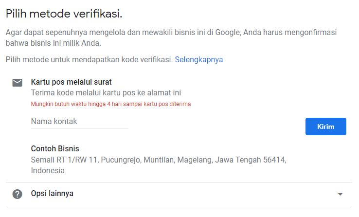 cara daftar google bisnisku verifikasi