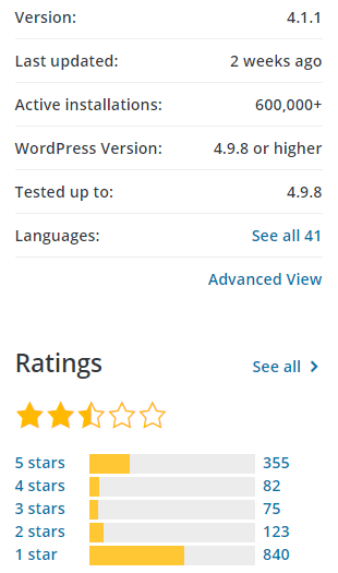 update wordpress terbaru 5.0 rating