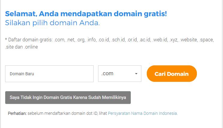 cara membuat website cari domain