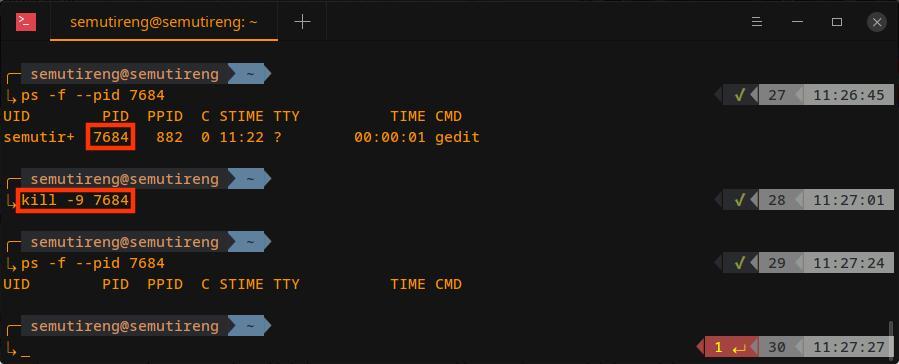 manajemen proses linux - kill