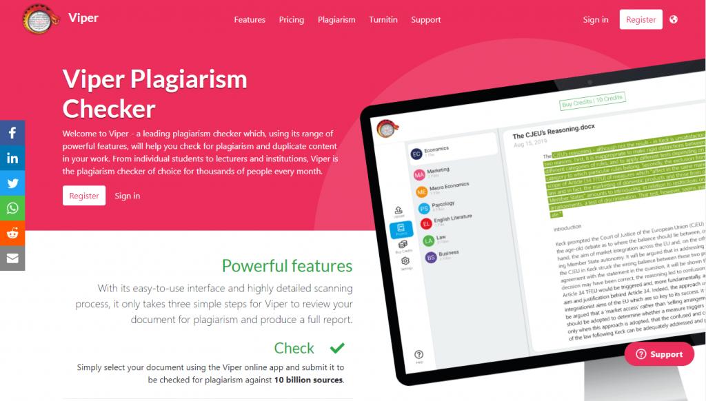 Cara mengecek plagiarisme - Viper Plagiarism Checker