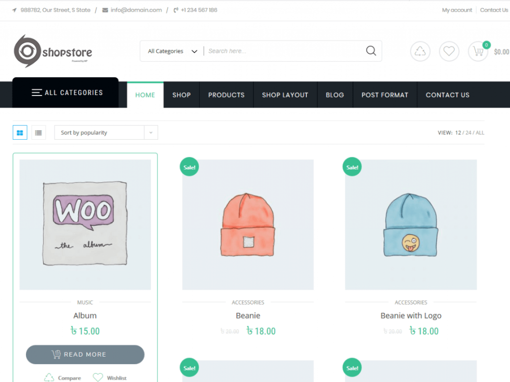 20. tema wordpress gratis shopstore