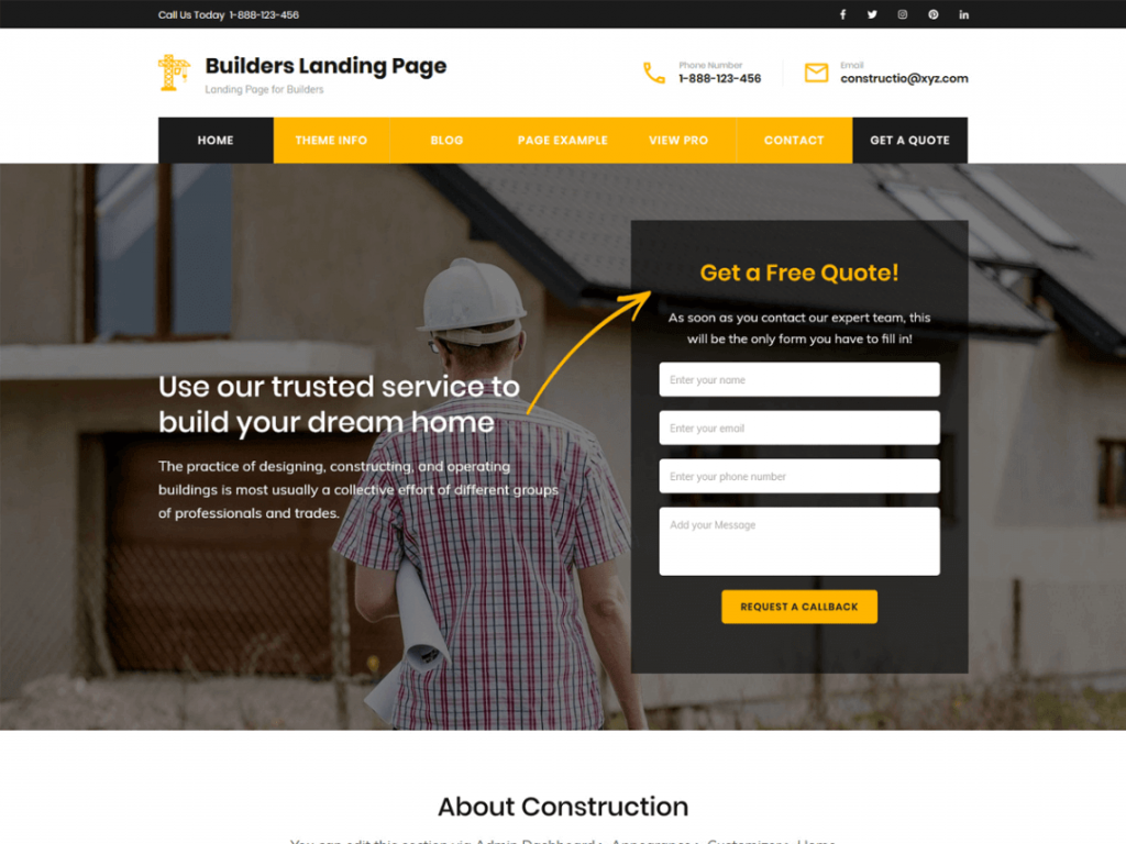 21. template wordpress gratis builders