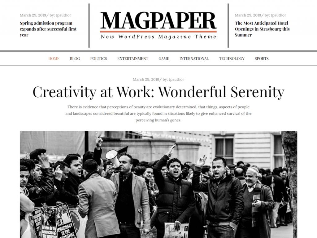 24. tema wordpress gratis magpaper