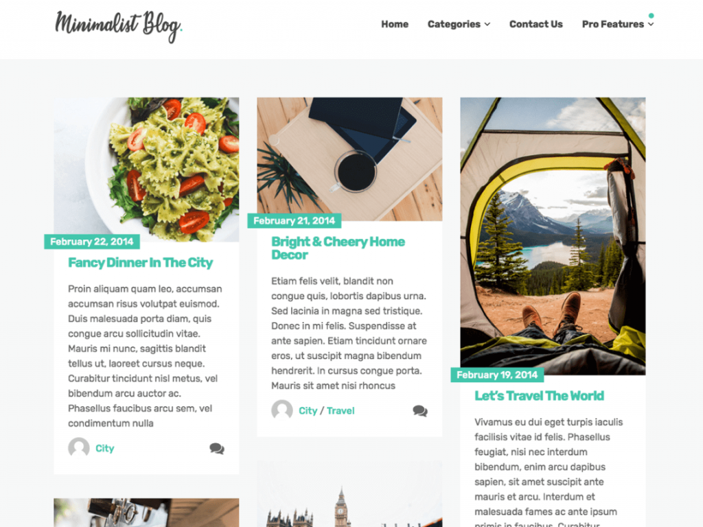 31. template wordpress terbaru minimalist blog
