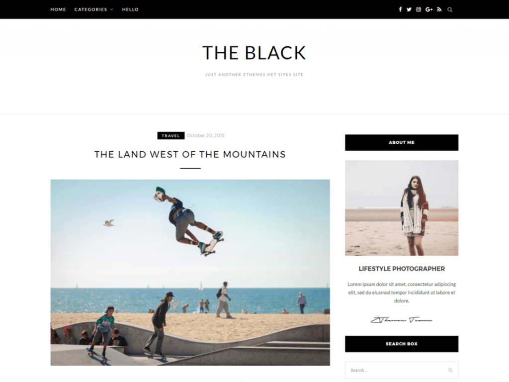 32. tema wordpress terbaru blacklite