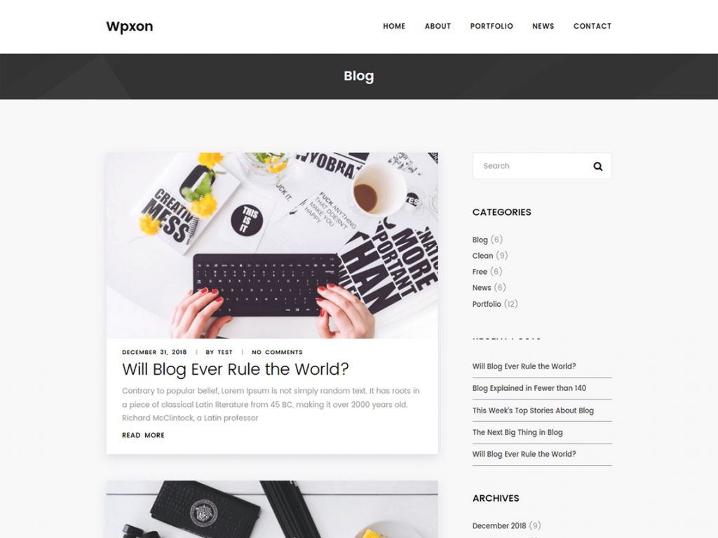 37. template wordpress fratis wpxon blog