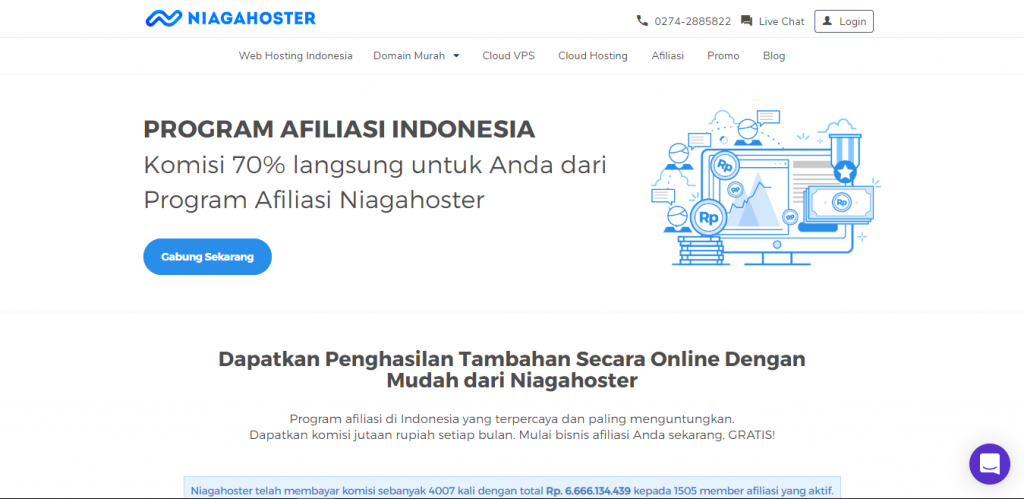 contoh strategi marketing produk afiliasi niagahoster
