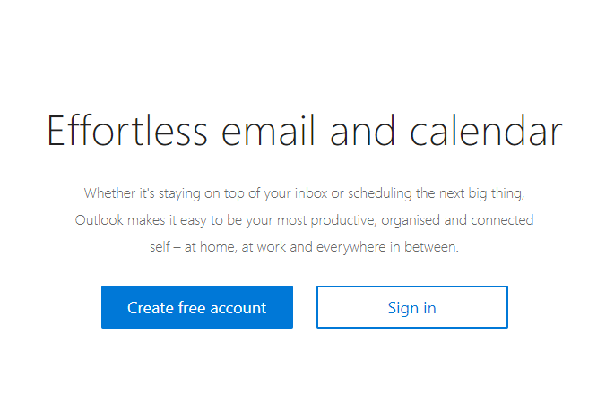 gratis email outlook