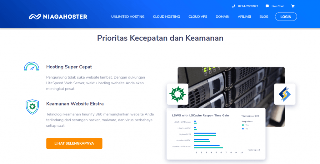 hosting super cepat niagahoster