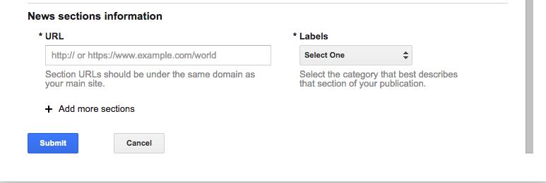 URL dan jenis informasi yang disajikan blog