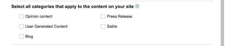 cara daftar google news - memilih kategori blog