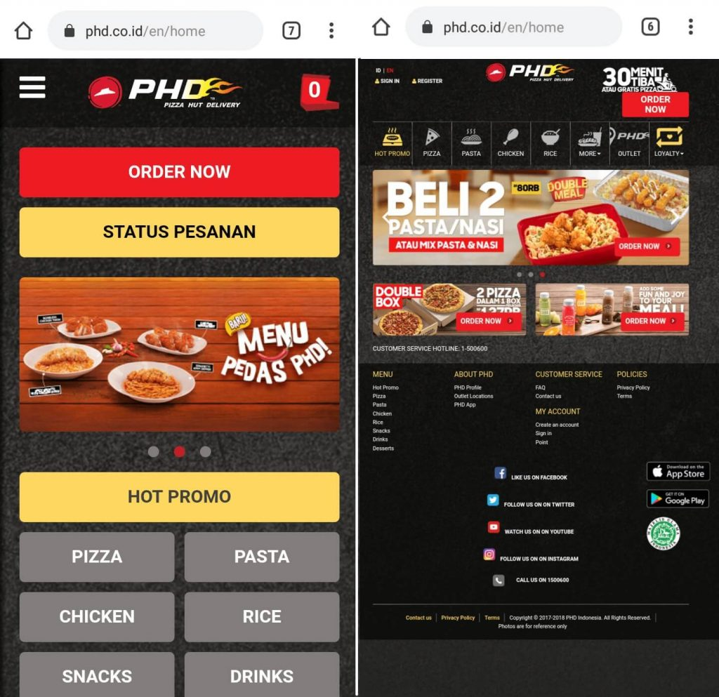 perbandingan mobile view vs desktop view