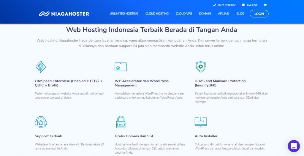 unlimited hosting niagahoster