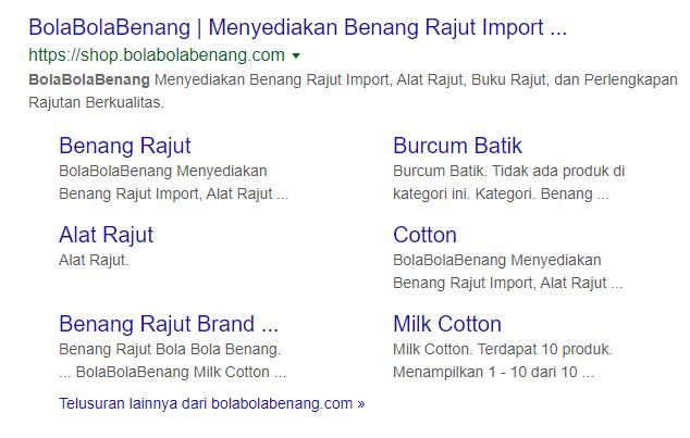 contoh nama toko online bola-bola benang